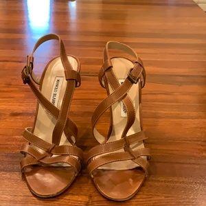 Manolo Blahnik Carmel Heels